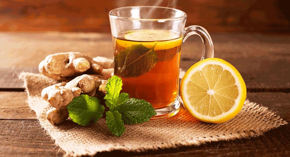 Имбирь, лимон и мята от головной боли